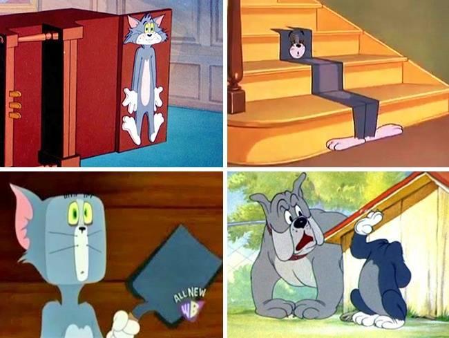 Hanya di 'Tom and Jerry' kucing bisa memiliki tubuh yang fleksibel banget dan nggak pernah mati.