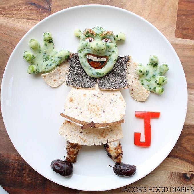 Ada pula penyajian makanan mirip sosok Shrek.