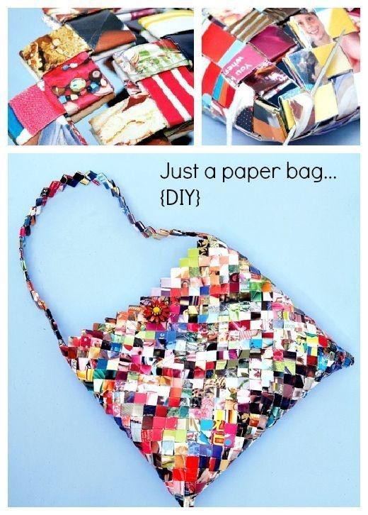 Buat yang suka dengan benda-benda DIY kalian bisa mengkreasikannya menjadi sebuah tas kece untuk hang out atau digunakan ke kampus dan ke sekolah.