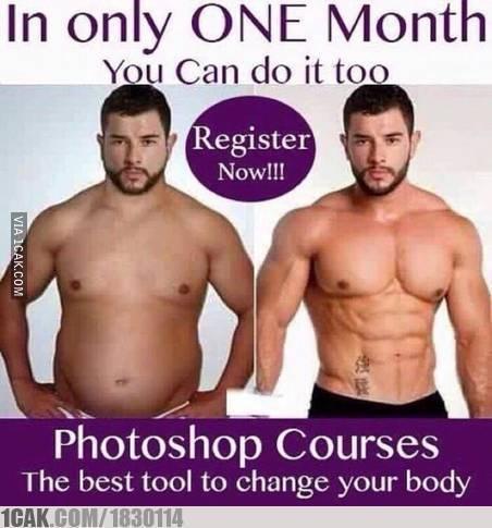 Kirain beneran bisa bentuk badan jadi kaya gitu, ternyata hanya teknik photoshopnya :D