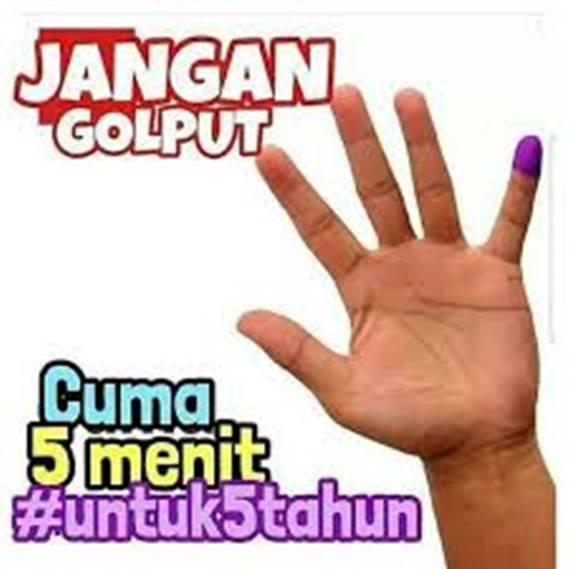 Ingat, waktu 5 menitmu menentukan Indonesia 5 tahun kedepan.