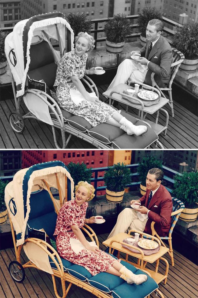 Gaya orang zaman dulu saat kencan di rooftop rapi banget ya guys.