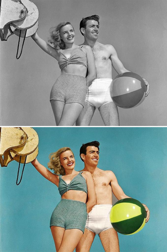 Foto berduanya jadi makin berkesan nih kalau diremake ulang begini.