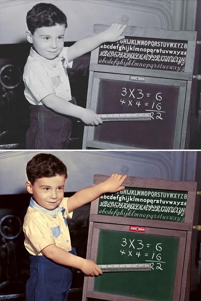 Si adiknya lagi belajar berhitung nih gengs. Sekarang mungkin cucu dia tuh lagi belajar berhitung.