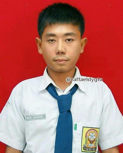 Tampang Roy Kyoshi pas jadi anak SMP. Suka tawuran nih kayanya.