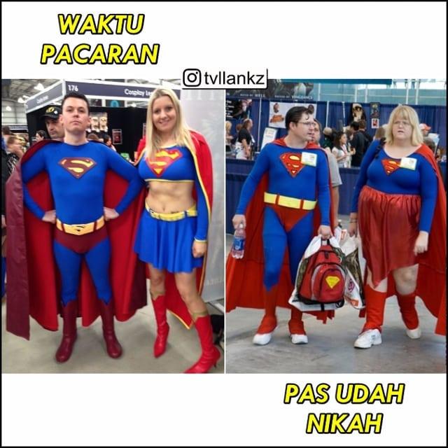 Lika-liku kehidupan asmara Superman mulai dari masa pacaran sampai nikah dan punya anak. Masih tetap romantis aja ya guys?.