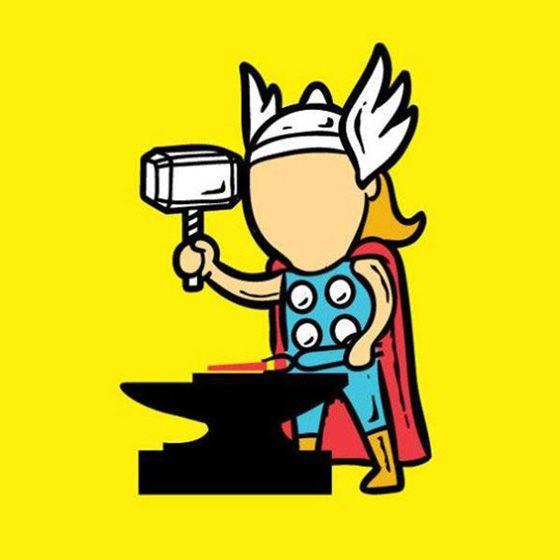 Sekali pukul pakai palunya, Thor bisa bikin pisau atau benda tajam lain secepat kilat.