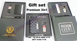 WOW Keren!!! Gift Set Pulpen + Gantungan Kunci + Tempat Kartu Nama (Custom)