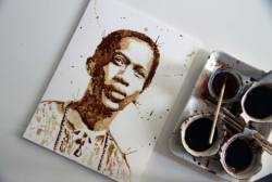 Di Tangan Seniman Ini Ampas Kopi Bisa Jadi Karya Lukis Keren