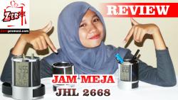 Video Review Jam Meja Unik dengan fitur melimpah tipe jhl2668
