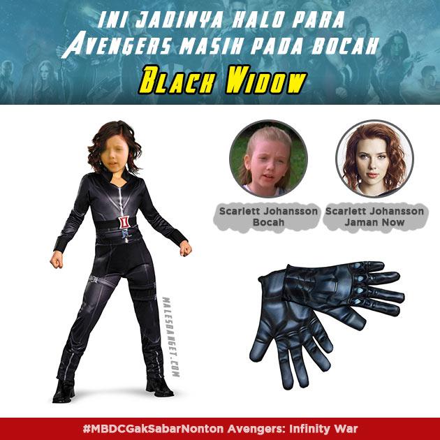 Sosok Black Widow saat masih bocah dulu kayak gini ternyata.