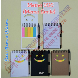 WOW Keren!!! Souvenir Memo Smile 906 - Blocknote Promosi