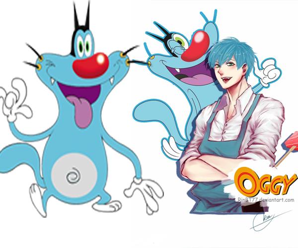 Si serangga Oggy yang bikin gregetan nampak keren lho. Wah, gimana nih Pulsker?. Beda banget kan mereka kalau jadi tokoh anime?