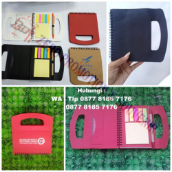 WOW Keren!!! Barang Promosi Perusahaan Memo Tas - notebook promosi