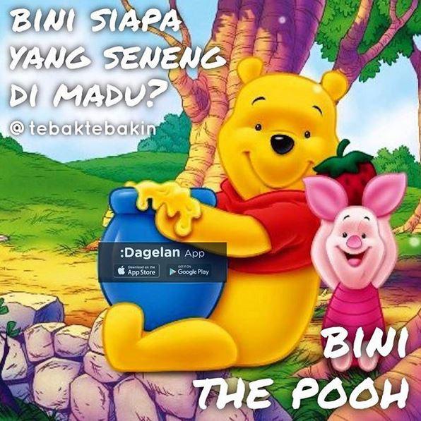 Bini The Pooh, agak garing sih ini haha