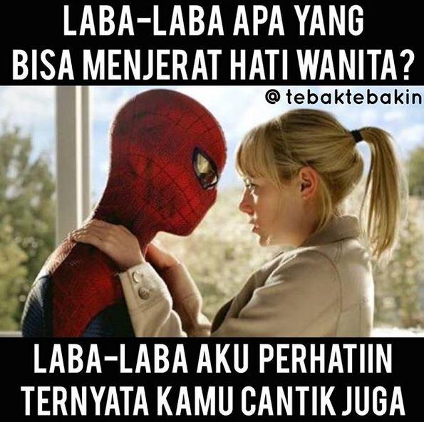 Coba tebak, laba laba apa yang bisa menjerat hati wanita.