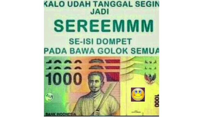 Tanggal tua kadang bikin orang marah marah apalagi uang di dompet cuma tinggal seribuan haha