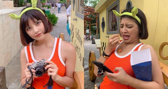 Foto sambil pegang kamera sepertinya jadi pose wajib, tapi coba deh lihat perbandingannya