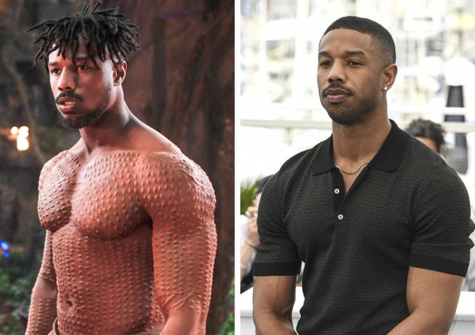 Musuh utama yang ada di Film Black Panther adalah Erik Killmonger, dengan tubuh penuh bentol bentol badan besar, ternyata Inilah penampilan aslinya sebagai Michael B Jordan.